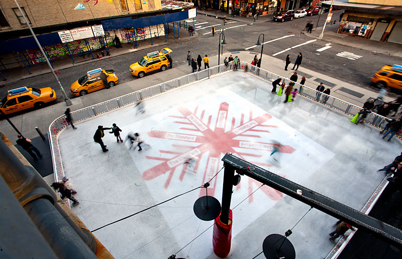 The Standard Ice Rink at the Standard Hotel